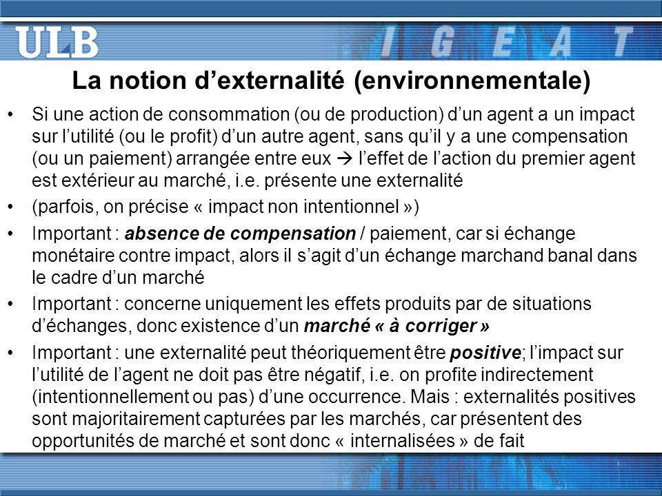 La notion d'externalité (environnementale)