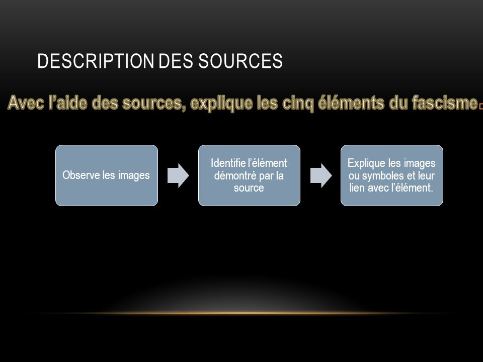 Description des sources