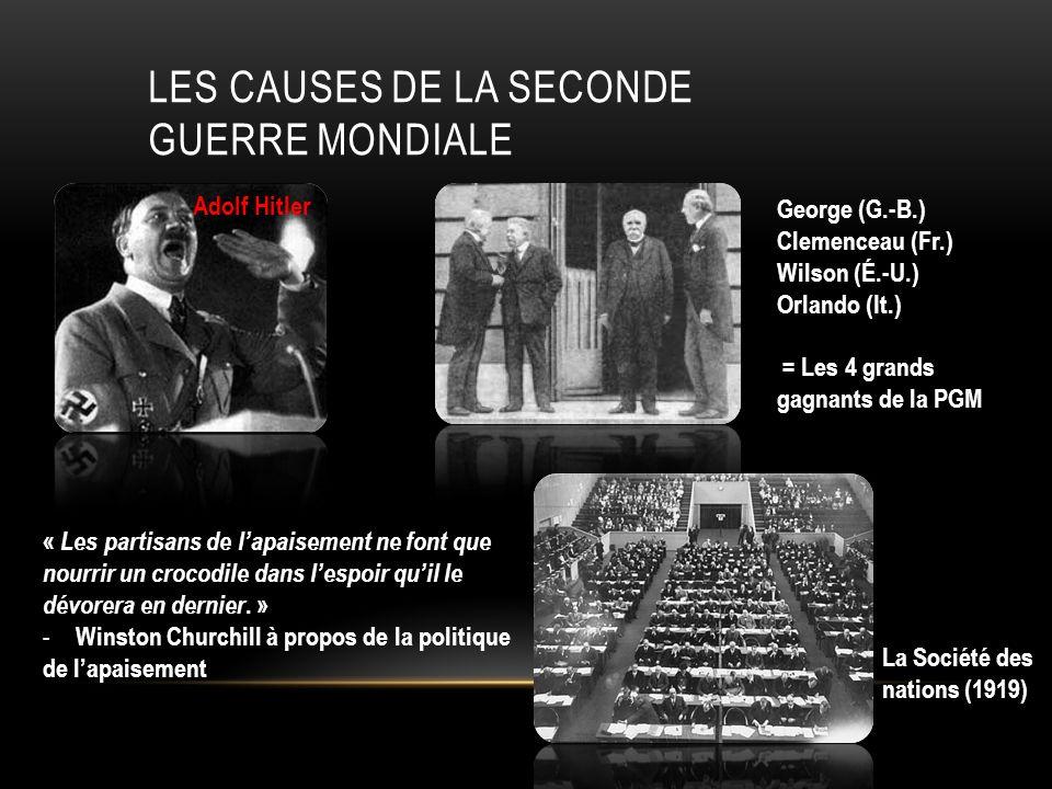 Les causes de la seconde guerre mondiale
