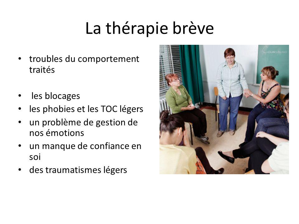 La thérapie brève troubles du comportement traités les blocages