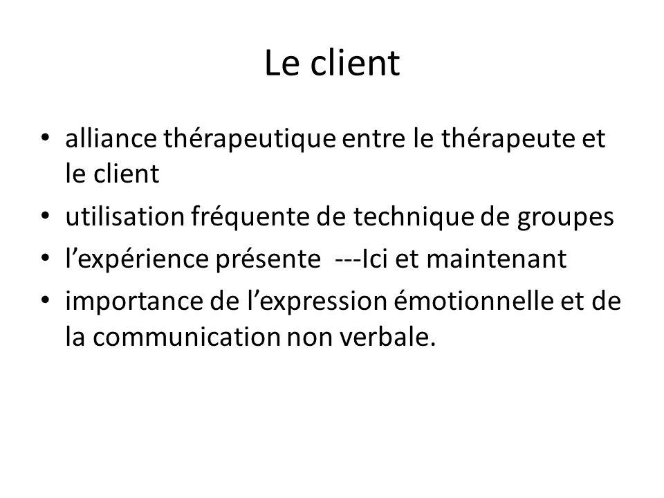 Le client alliance thérapeutique entre le thérapeute et le client