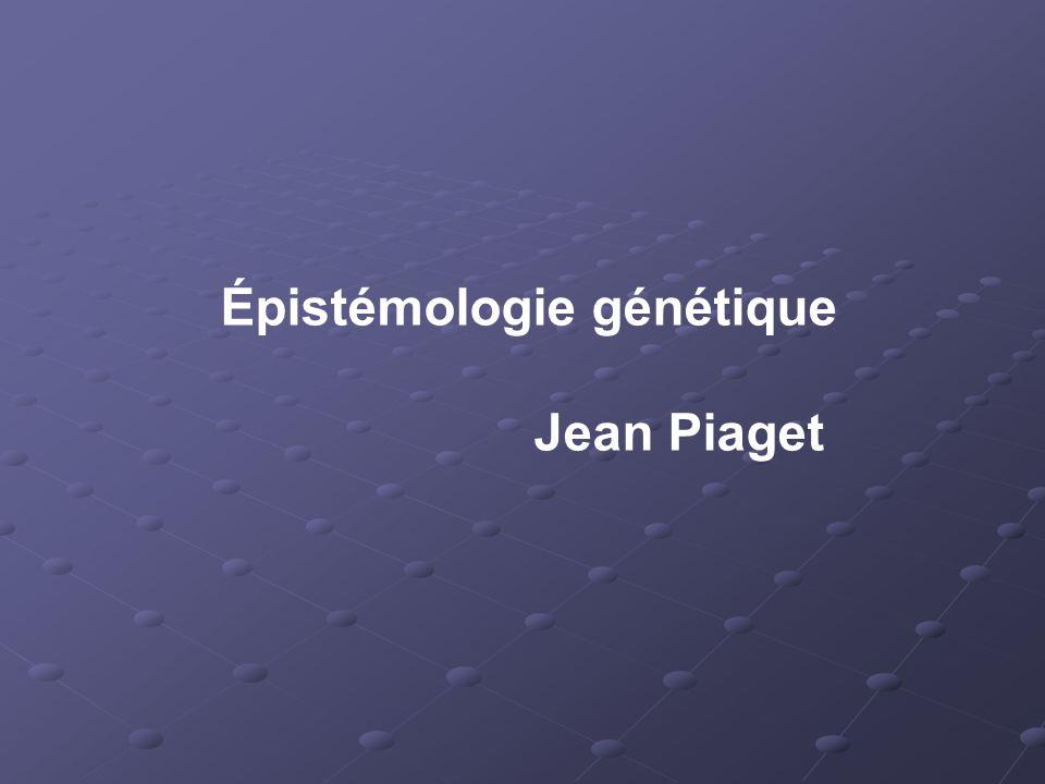 Épistémologie génétique