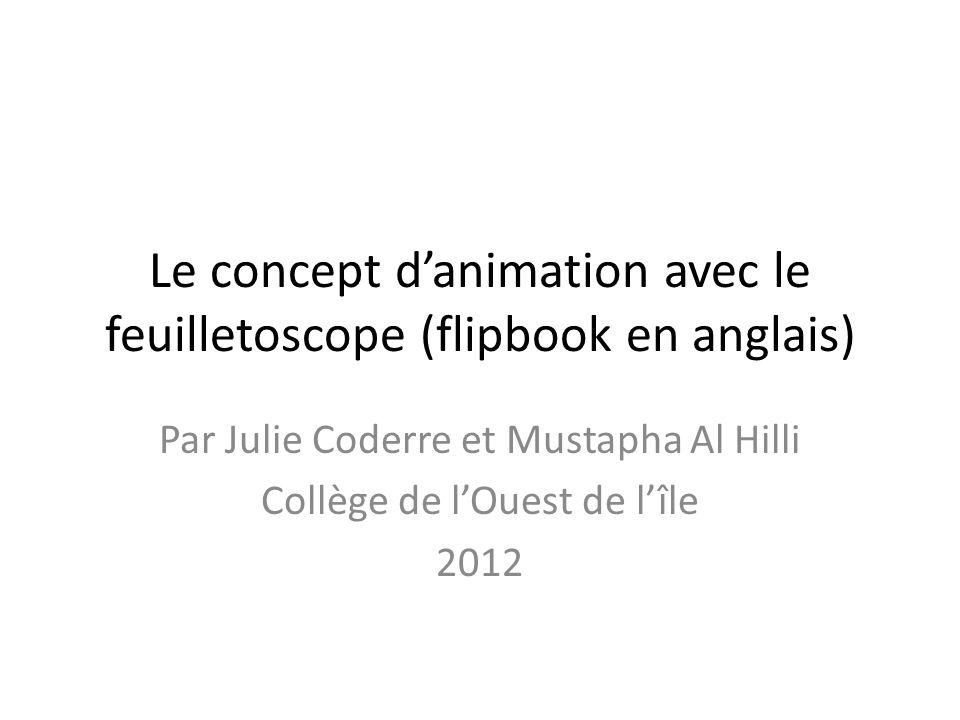 Le concept d'animation avec le feuilletoscope (flipbook en anglais)