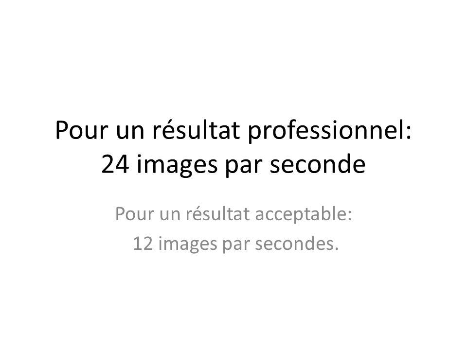 Pour un résultat professionnel: 24 images par seconde