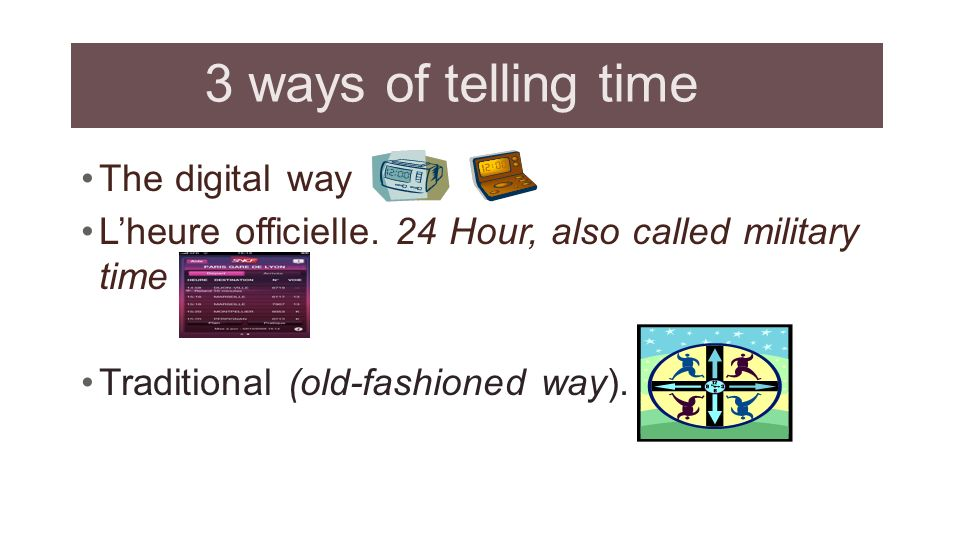 3 ways of telling time The digital way