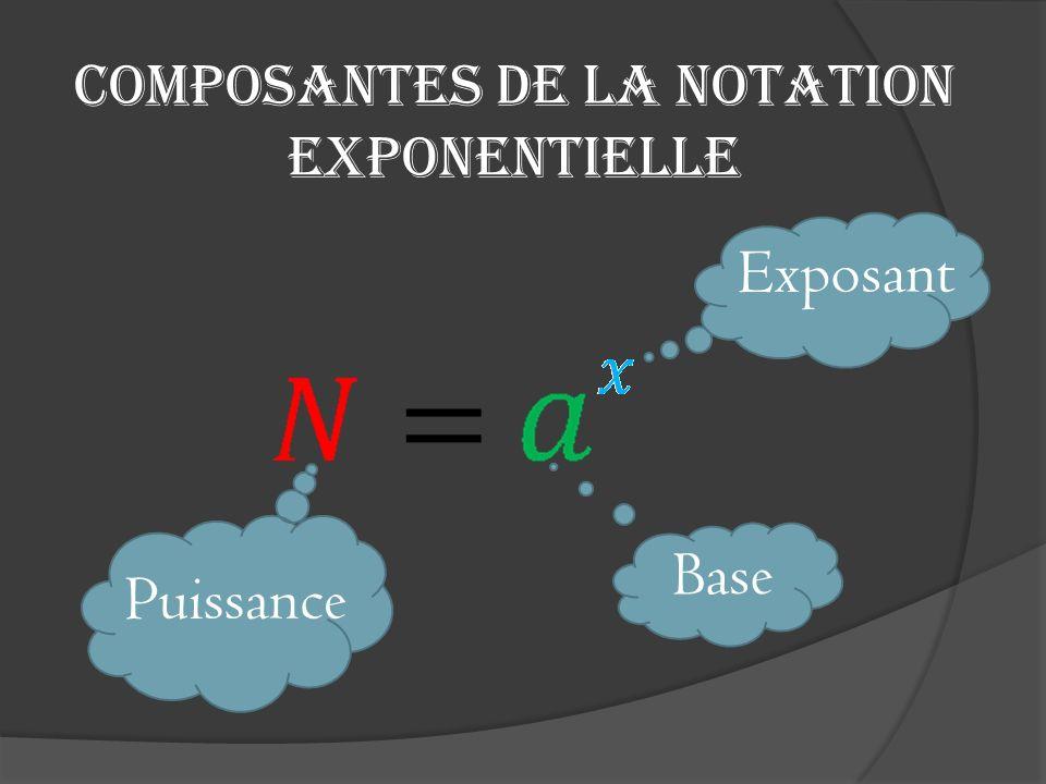 Composantes de la notation exponentielle