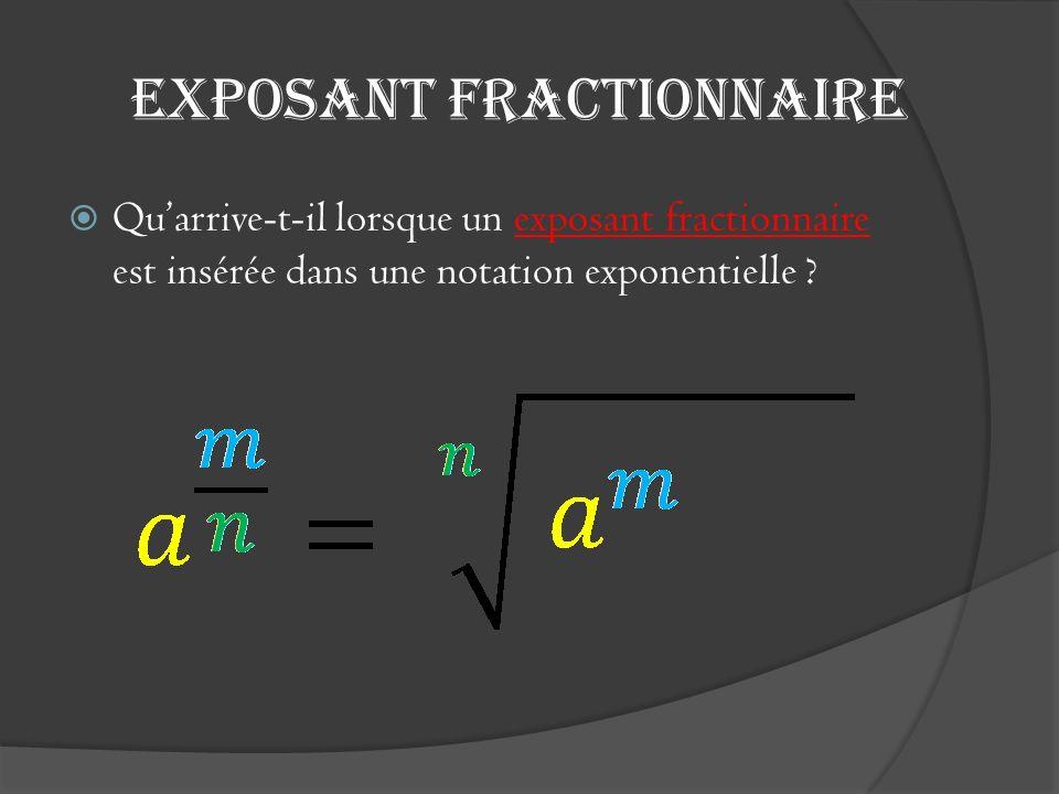 Exposant fractionnaire