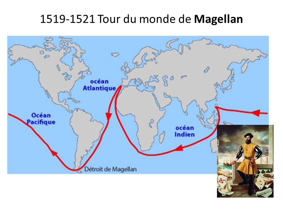 1519-1521 Tour du monde de Magellan