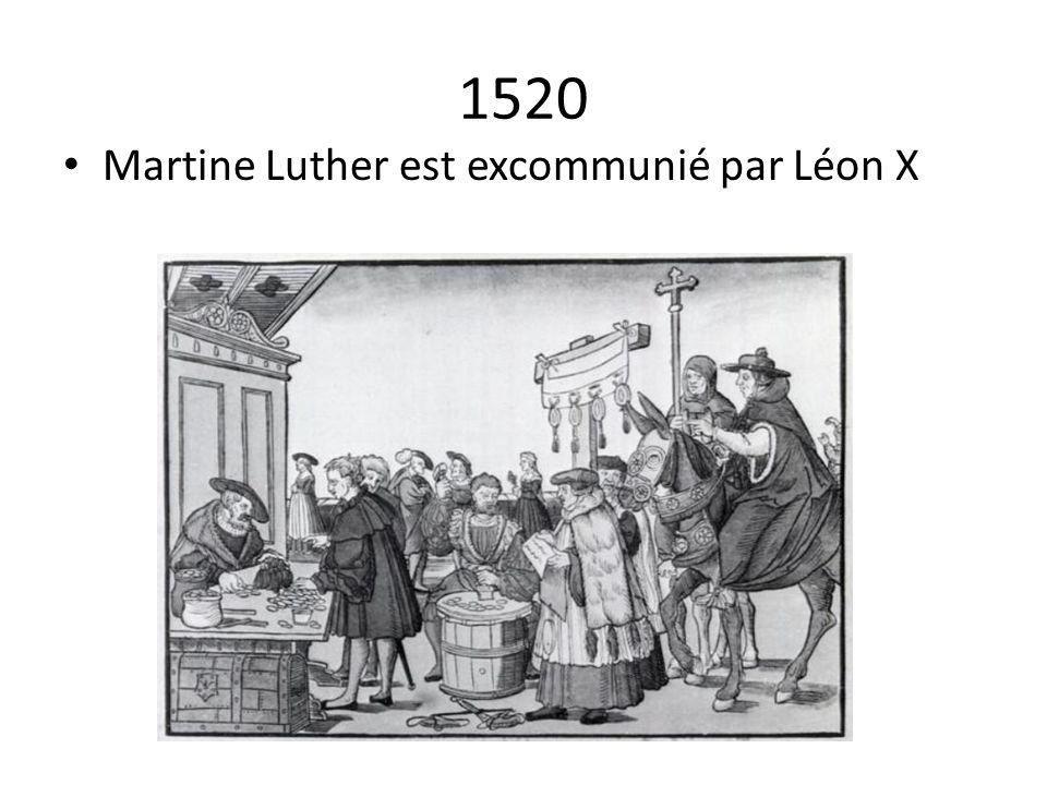 1520 Martine Luther est excommunié par Léon X