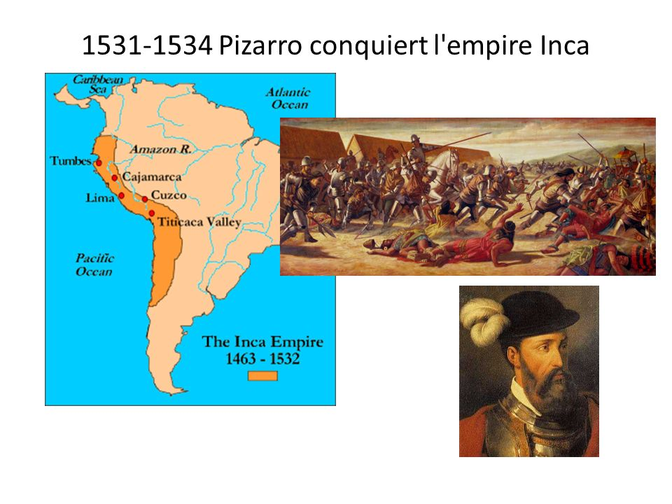 1531-1534 Pizarro conquiert l empire Inca