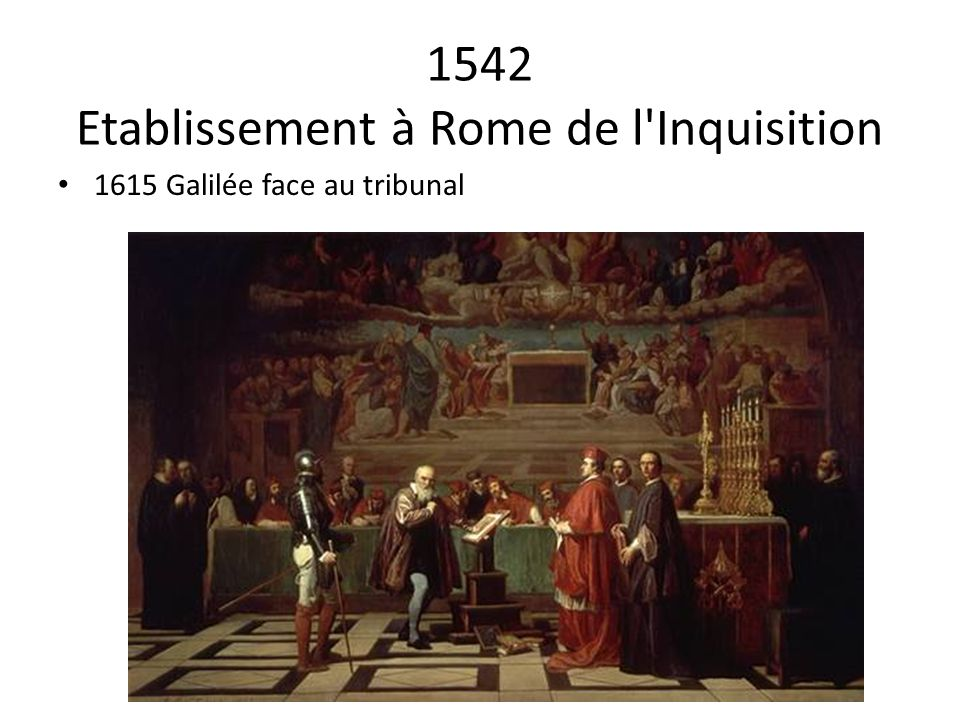 1542 Etablissement à Rome de l Inquisition