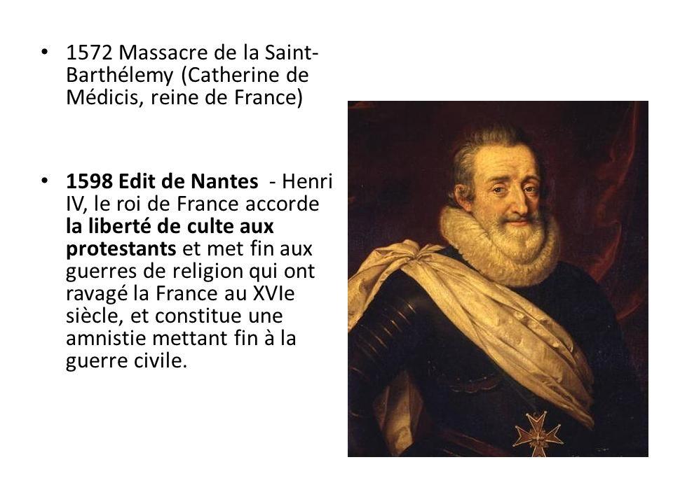 1572 Massacre de la Saint-Barthélemy (Catherine de Médicis, reine de France)
