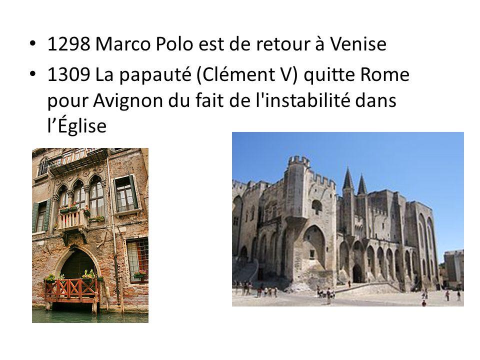 1298 Marco Polo est de retour à Venise