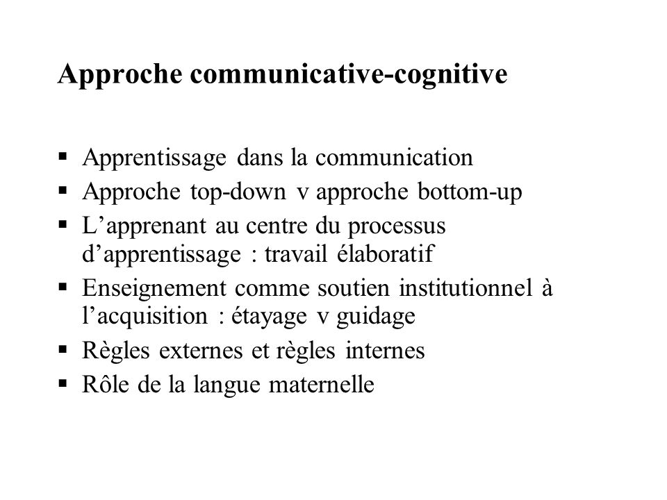 Approche communicative-cognitive