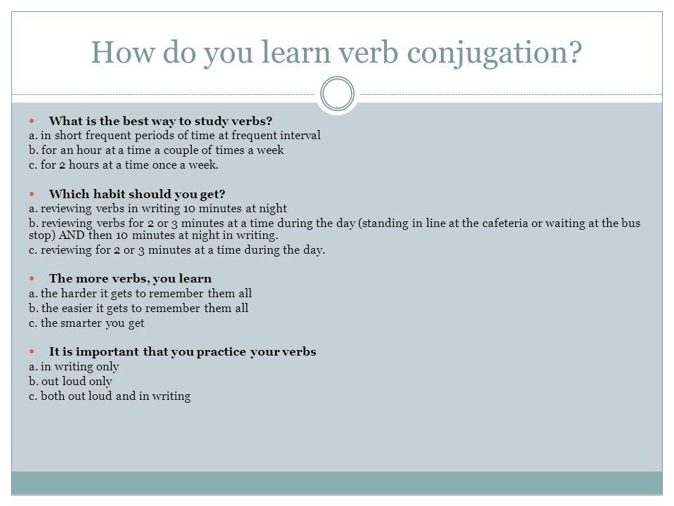 How do you learn verb conjugation