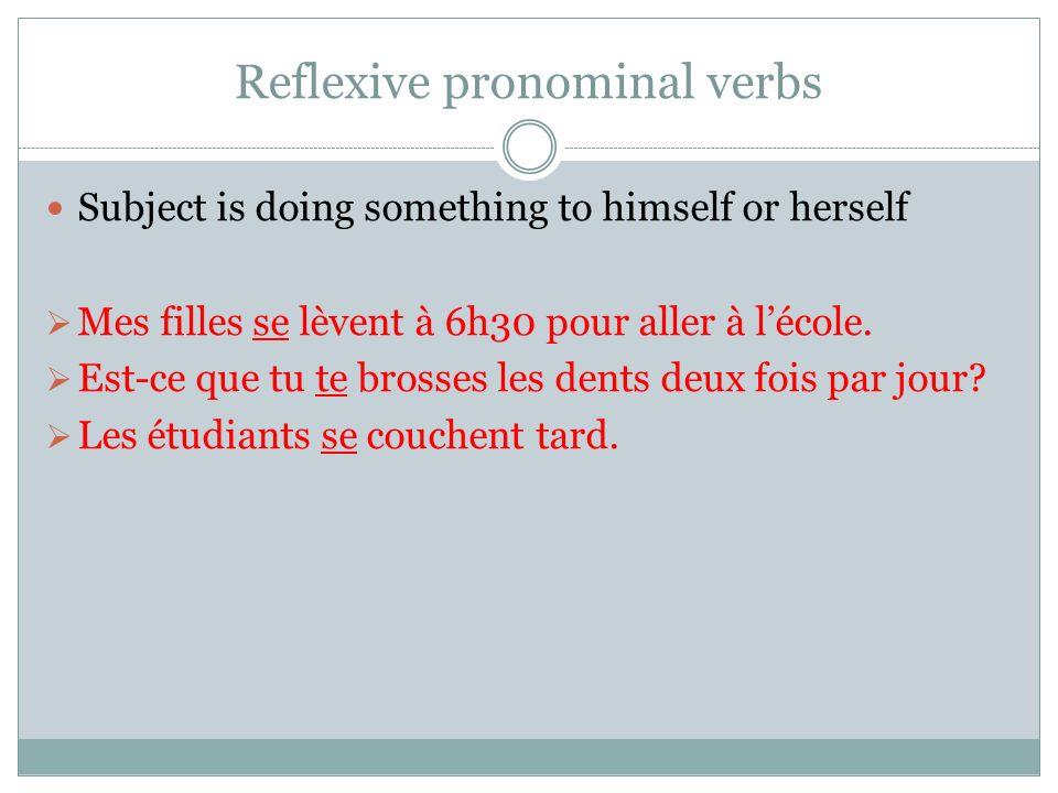 Reflexive pronominal verbs
