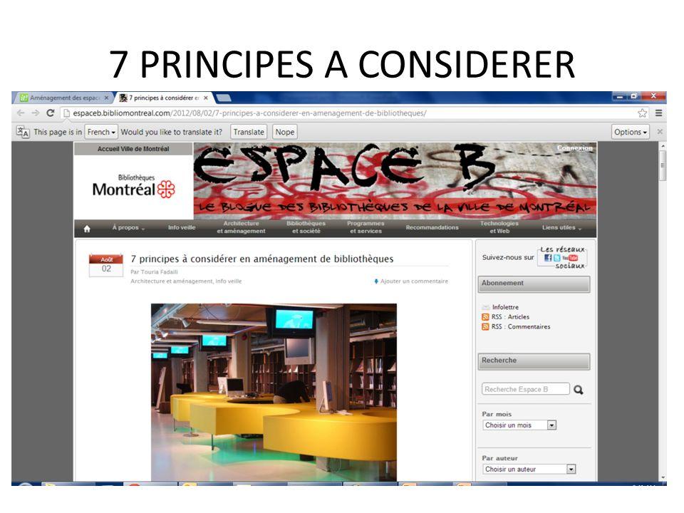 7 PRINCIPES A CONSIDERER