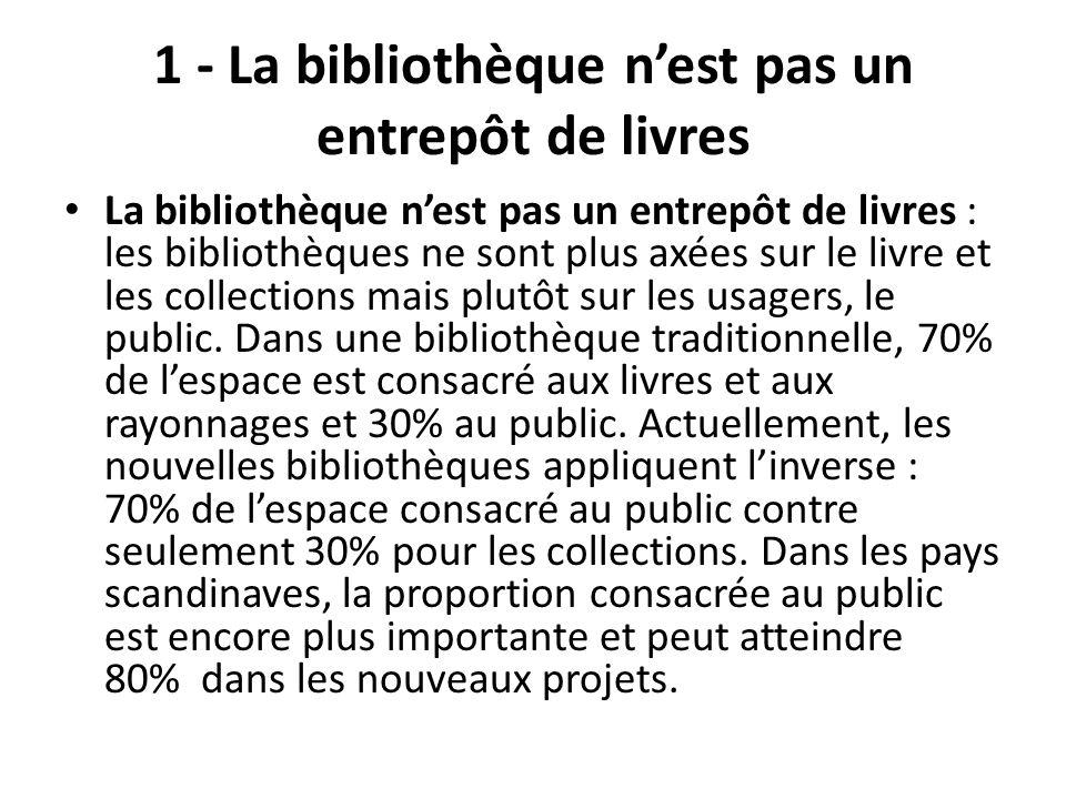1 - La bibliothèque n'est pas un entrepôt de livres