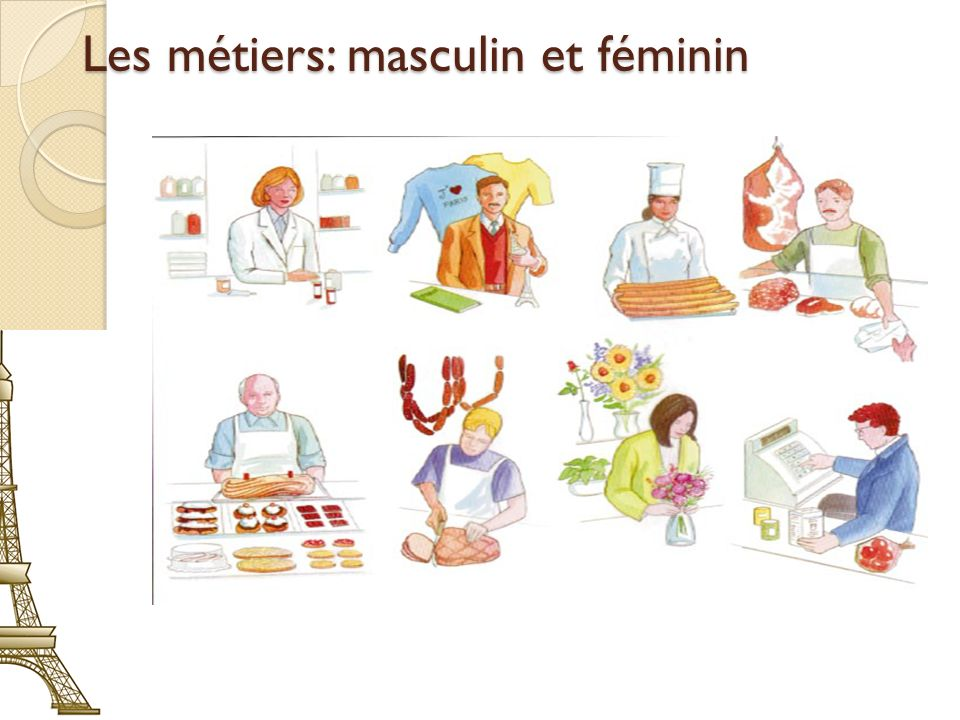 Les métiers: masculin et féminin