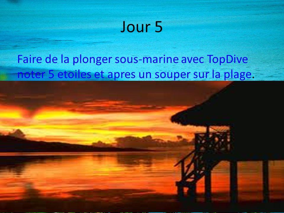 Jour 5 Faire de la plonger sous-marine avec TopDive noter 5 etoiles et apres un souper sur la plage.