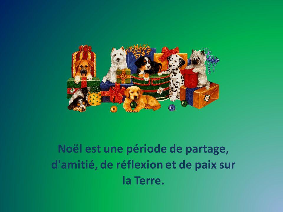 Noël est une période de partage, d amitié, de réflexion et de paix sur la Terre.