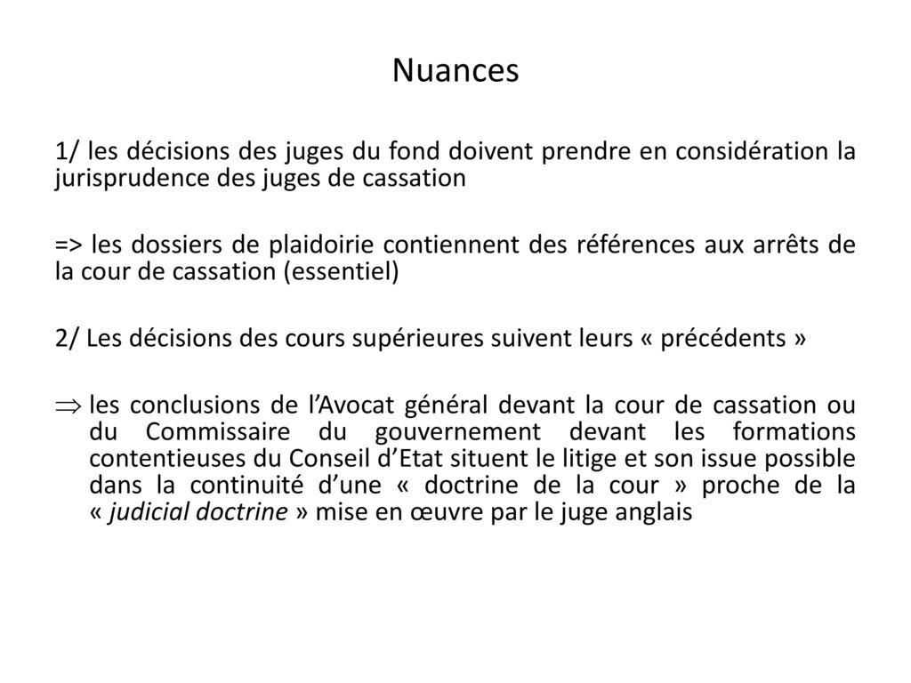 les revirements de jurisprudence dissertation Souviens toi que l'introduction de ta dissertation ou de ton  années 1990, la  cour de cassation a procédé à un revirement de jurisprudence.