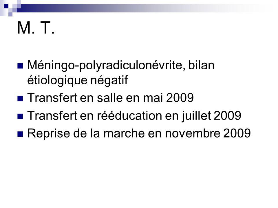 M. T. Méningo-polyradiculonévrite, bilan étiologique négatif