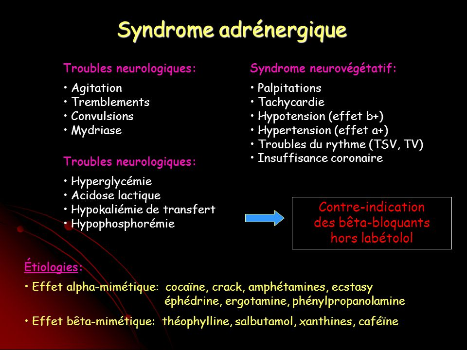Syndrome adrénergique