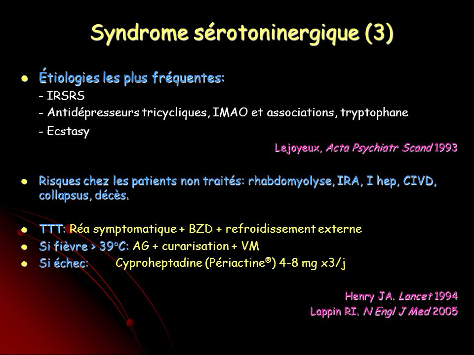 Syndrome sérotoninergique (3)