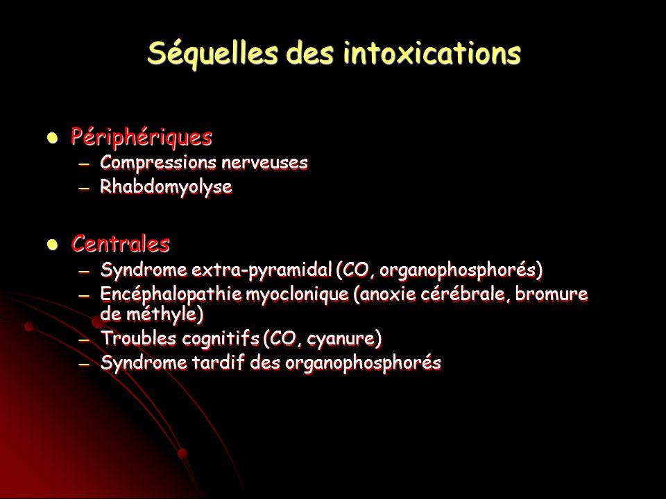 Séquelles des intoxications