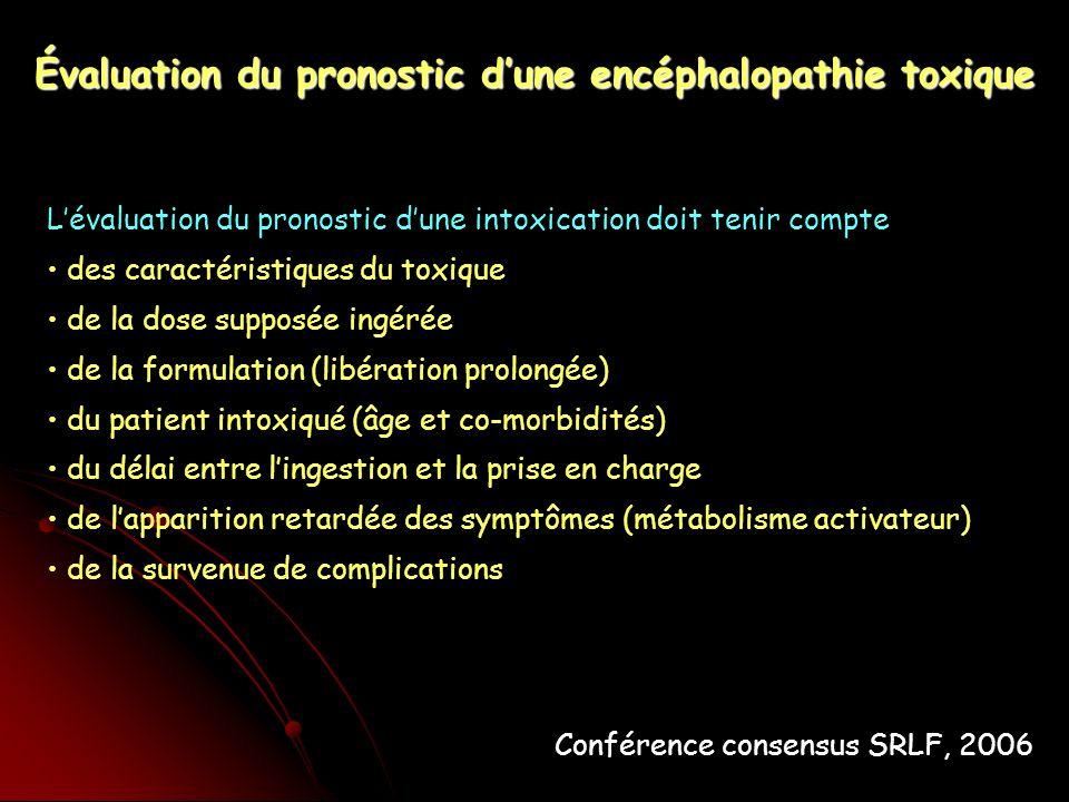 Évaluation du pronostic d'une encéphalopathie toxique