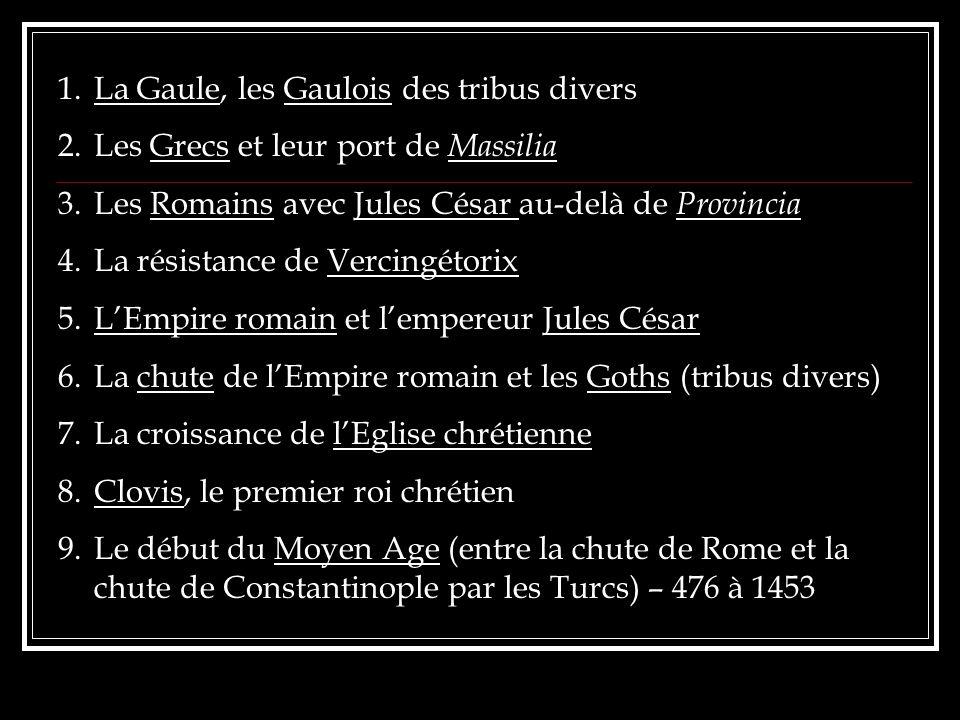 La Gaule, les Gaulois des tribus divers