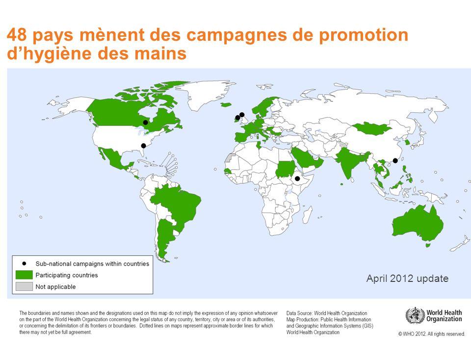 48 pays mènent des campagnes de promotion d'hygiène des mains