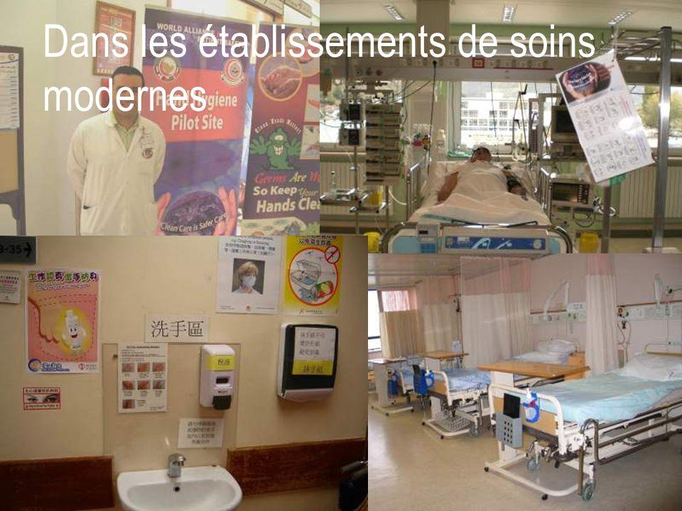 Dans les établissements de soins