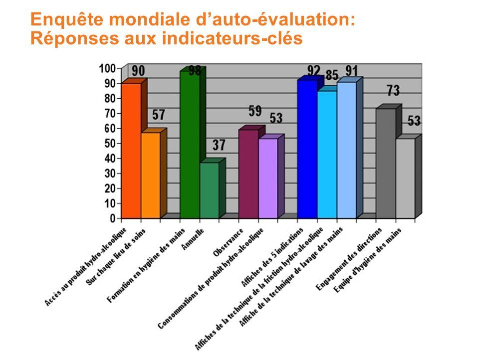 Enquête mondiale d'auto-évaluation: Réponses aux indicateurs-clés
