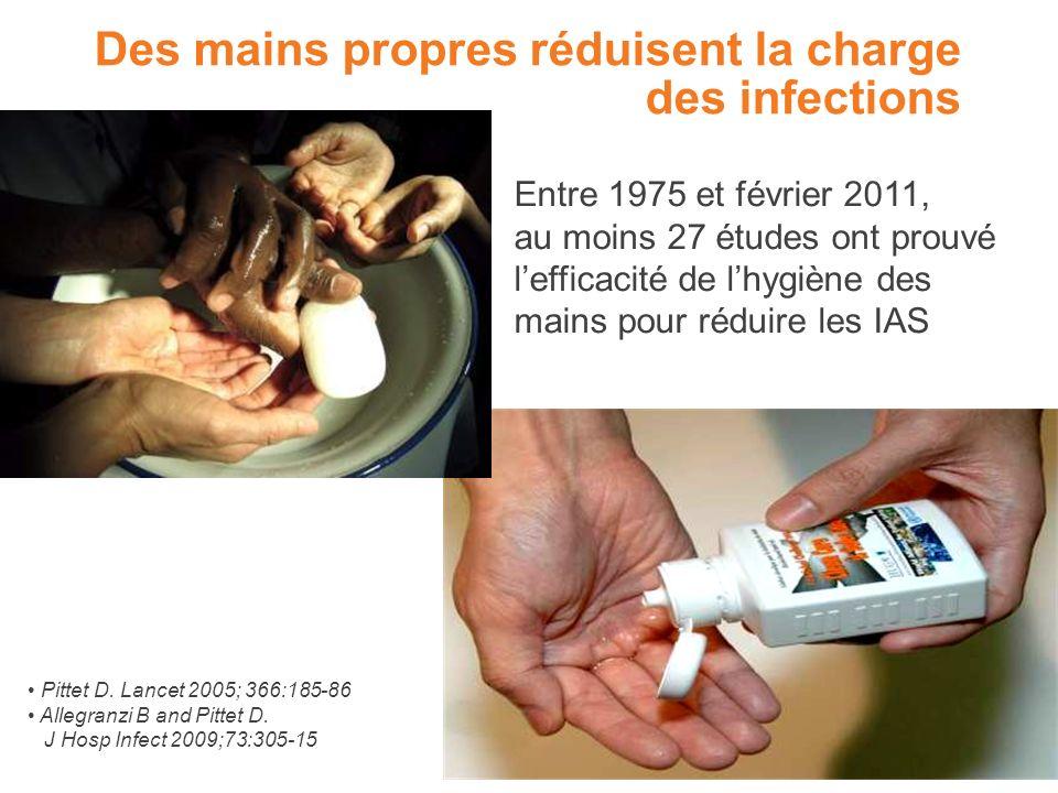 Des mains propres réduisent la charge des infections