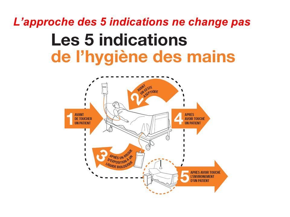 L'approche des 5 indications ne change pas