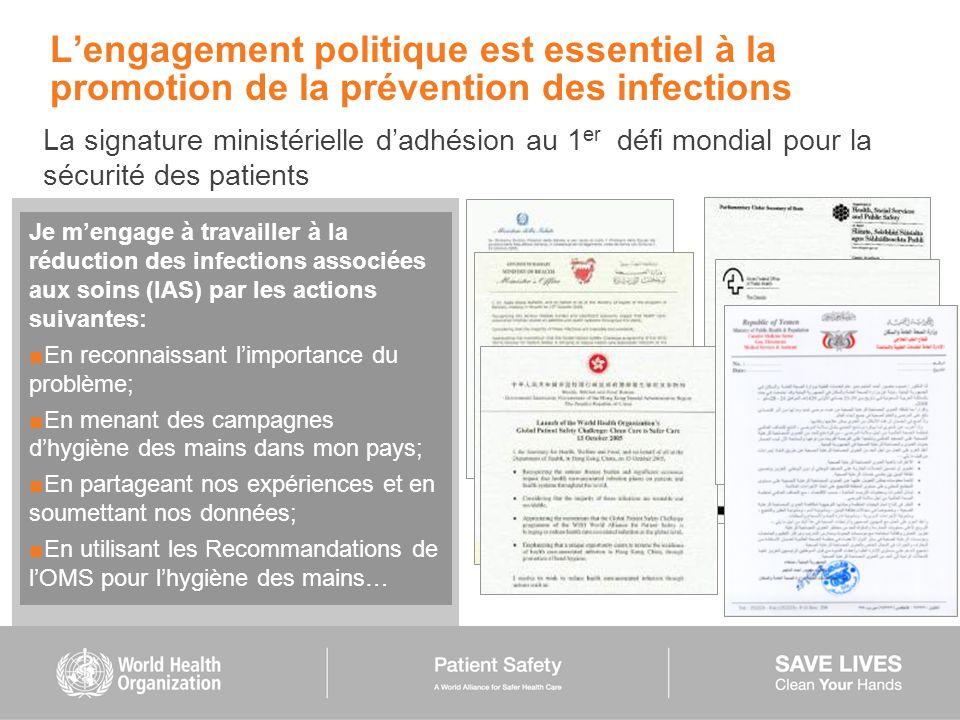 L'engagement politique est essentiel à la promotion de la prévention des infections