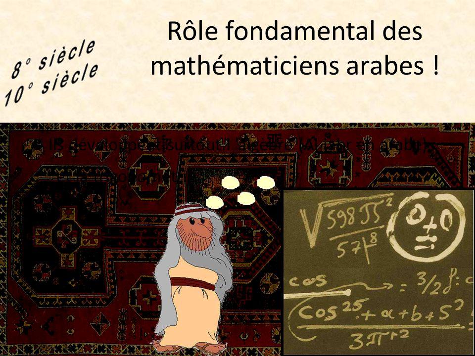 Rôle fondamental des mathématiciens arabes !