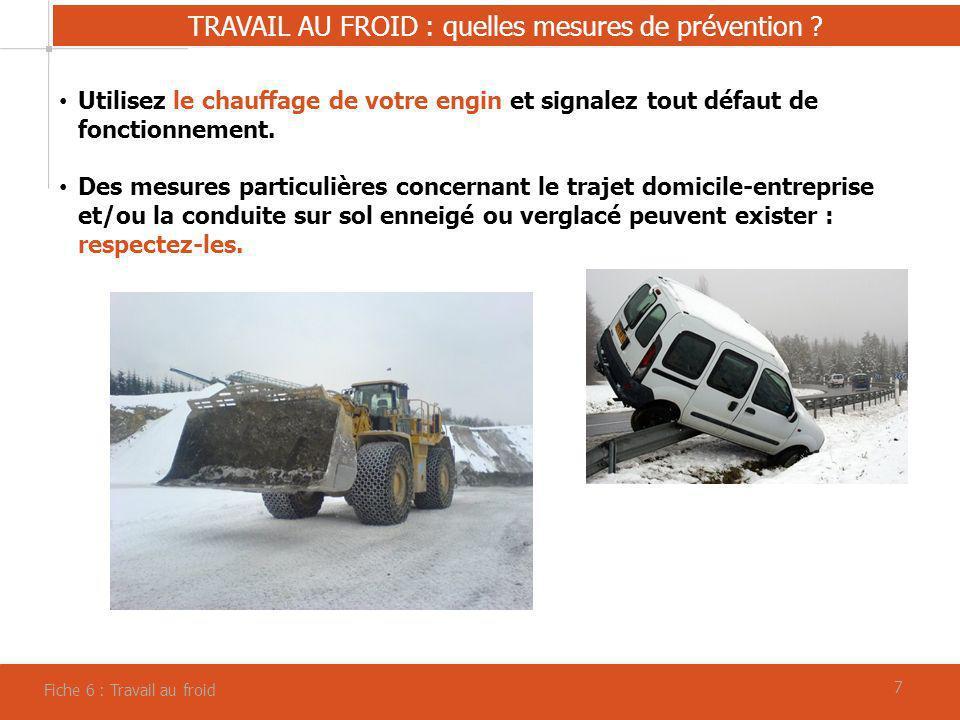 TRAVAIL AU FROID : quelles mesures de prévention