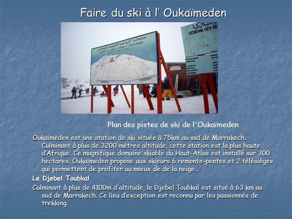 Faire du ski à l' Oukaïmeden