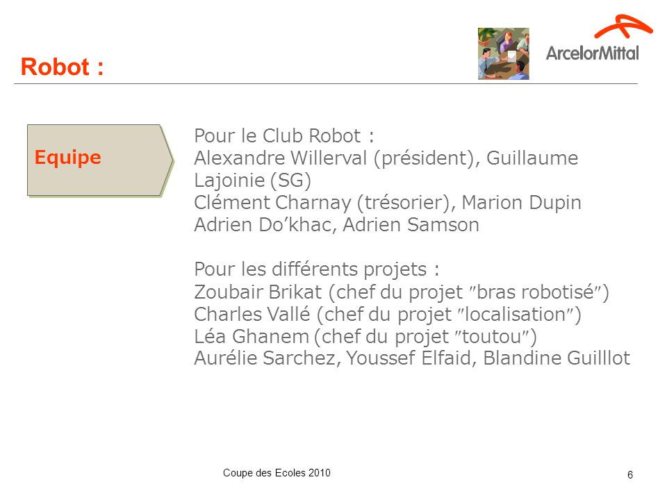 Robot : Ce que l'on referait :