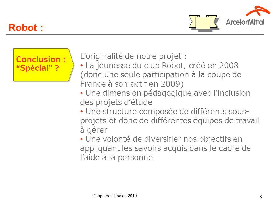 Robot : Communication au sein de l'école : Communication / déploiement