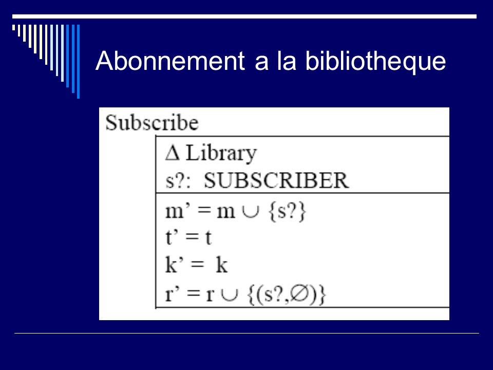 Abonnement a la bibliotheque
