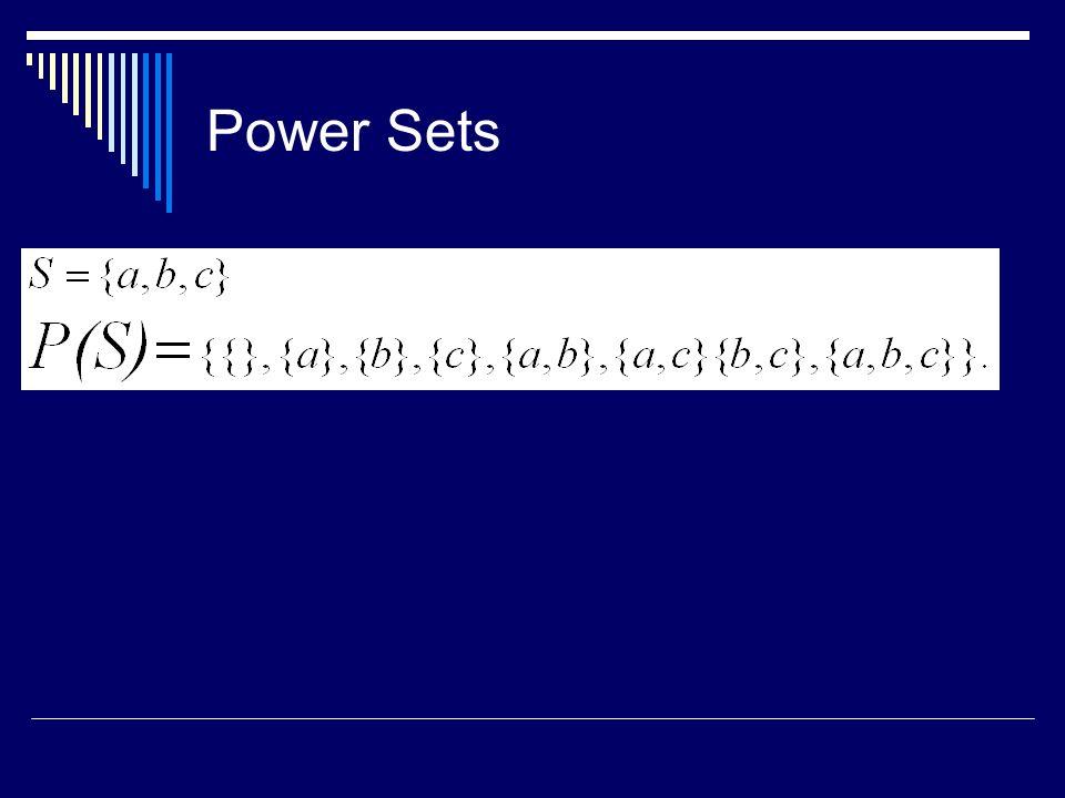Power Sets