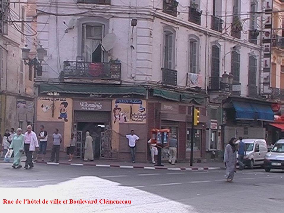 Rue de l'hôtel de ville et Boulevard Clémenceau