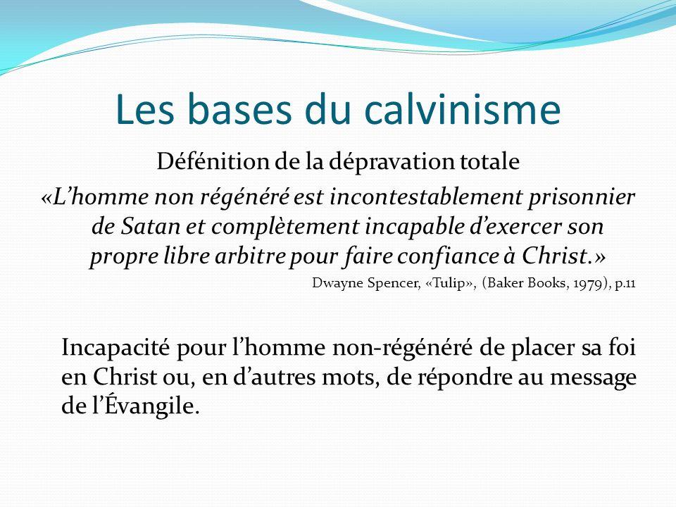Les bases du calvinisme