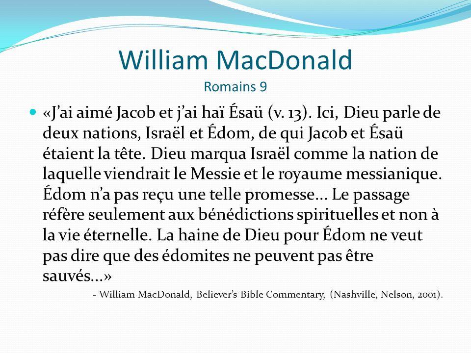 William MacDonald Romains 9