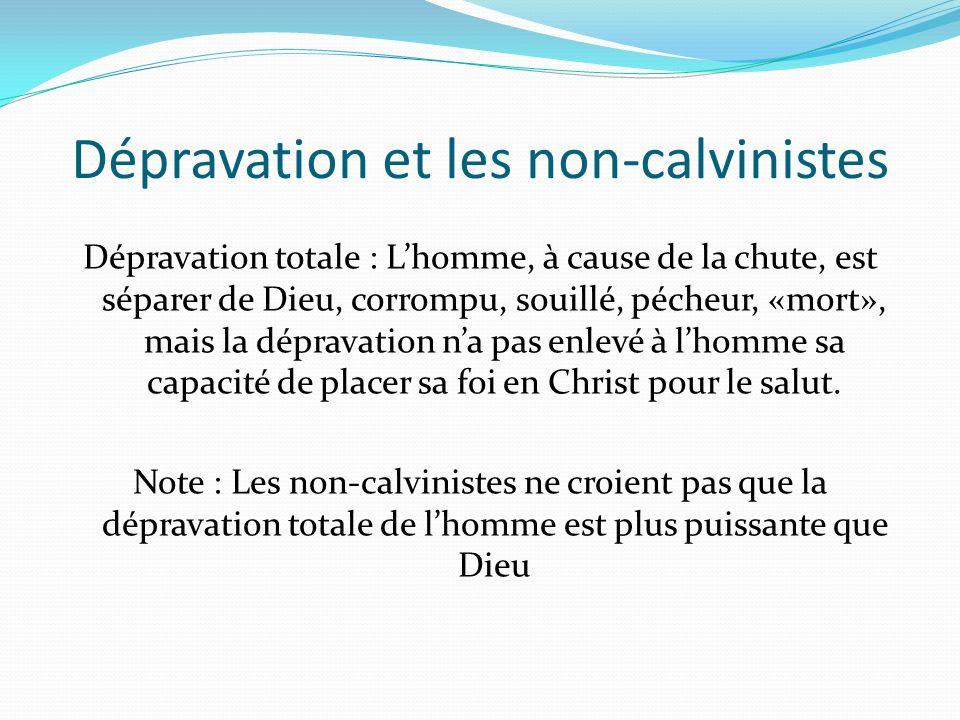 Dépravation et les non-calvinistes