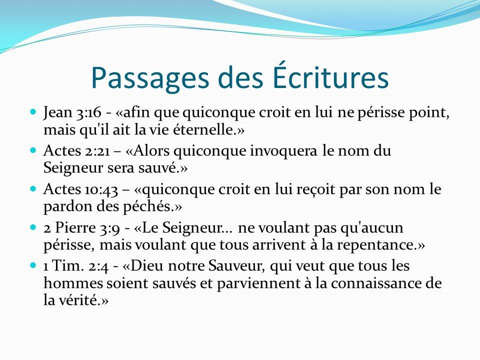 Passages des Écritures